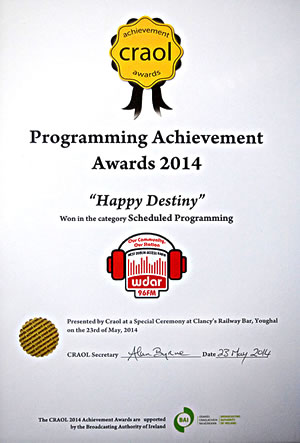 Happy Destiny Programming Acheivement award